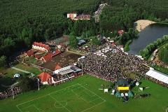 Widok z góry na boiska